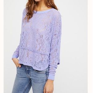 Free People Not Cold in This Top- Purple